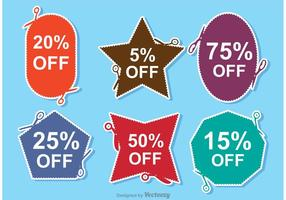Scissor coupon discount vectors