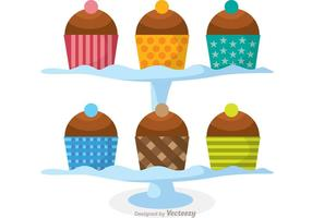 Cupcake Stand Vector