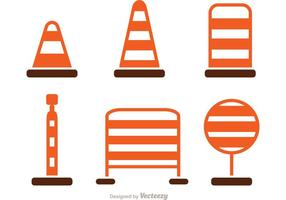Simple Road Traffic Icons Vector