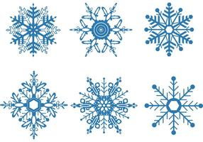 Sneeuwvlok Vector Set