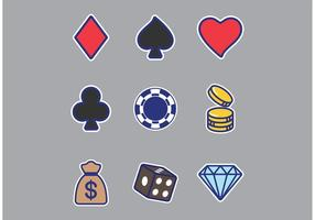 Slot Machine Sticker Vectoren