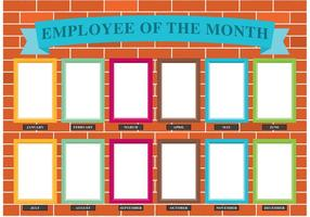 Employee of the Month Wall Vector