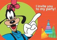 Goofy Disney Invitation Vector