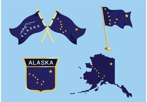 Alaska-Flaggenvektoren vektor