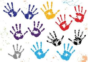 Child Handprint Vectors
