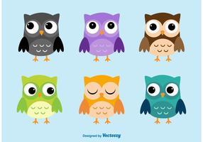Personagens do vetor dos desenhos animados da coruja