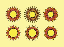 Geometrische zon vectoren