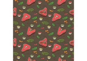 Free T Bone Steak Vector Pattern