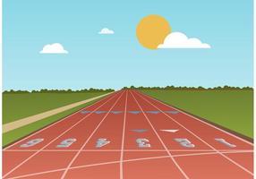 Free Running Track Vector