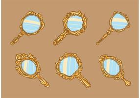 Vecteurs de miroir à main vintage gratuits