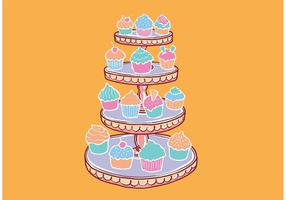 Free Cupcake Stand Vector