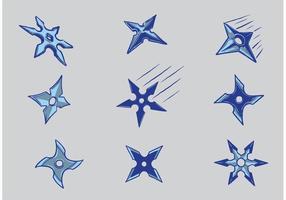 Livre ninja jogando vetores de estrelas