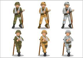 Vecteurs de soldats blessés