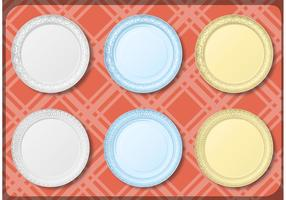 Paper Plate Vector