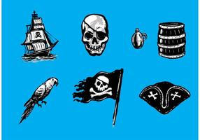 Gratis Pirate Vector Elementen