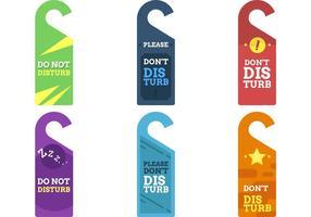 Do Not Disturb Sign Vectors
