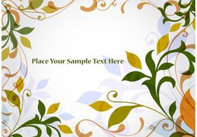 Floral Branch Vector Background