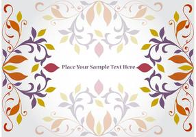 Floral-corner-vector-background