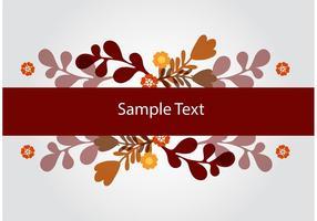 Floral Banner Vector Background