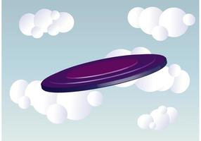 Purple Frisbee Vector