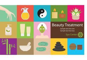 Vetores de tratamento de beleza