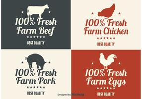 Bauernhof Produkt Etiketten