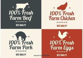 Etiquetas de produtos agrícolas