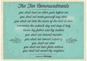 Vintage Ten Commandments Poster