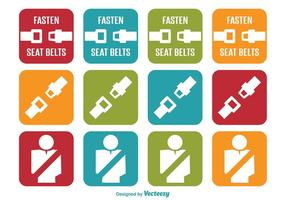 Seat Belt Icons vector