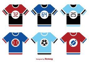 Conjunto de vectores de deportes jersey