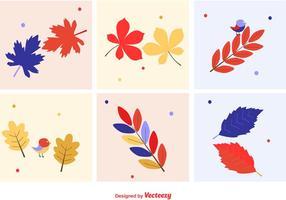 Herbstliche Blätter Vektoren