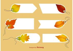 Autumn Blank Price Tag Vectors