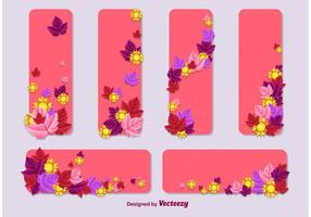 Summer - Spring Vector Card Templates