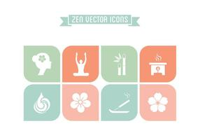 Ícones de Zen de vetor grátis
