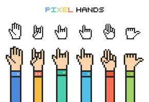 Mãos de Pixel Vector Gratuitas