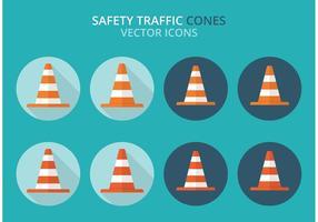 Gratis Säkerhet Trafik Cones Vector Pack