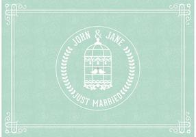 Just Married Vector Card