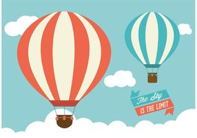 Hot Air Balloons Vector Graphic
