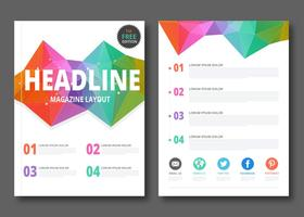 Geometric Magazine Layout Vector
