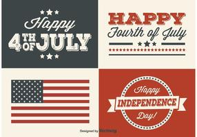 Independence Day Labels vector