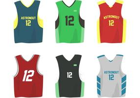 Basketbal Sport Jersey Vectoren