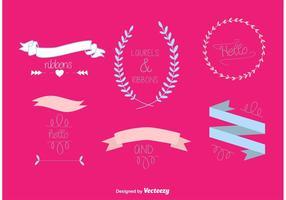 Dibujado a mano vectoriales de la boda