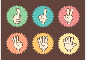 Counting Cartoon Hands Vector