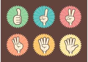 Counting Cartoon Hands Vector