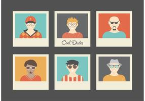 Free cool likes retro vector avatars