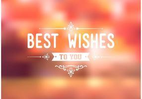 Gratis Bästa Wishes Typografi Bakgrund Vector