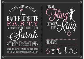Gratis Bachelorette Party Invitation Vector