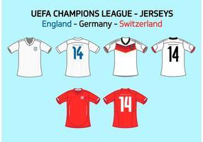 UEFA Team Jerseys England Germany Switzerland Vector Free