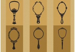 Hand Drawn Vintage Hand Mirror Vectors