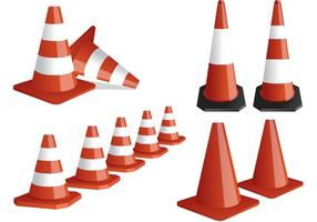 Stripade Orange Cone Vectors